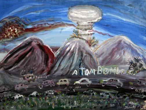 "51: William Thomas Thompson-""Atom Boom"". Paint on canva"