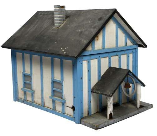 "98: Bee House-""School House"". Paint on wood constructio"