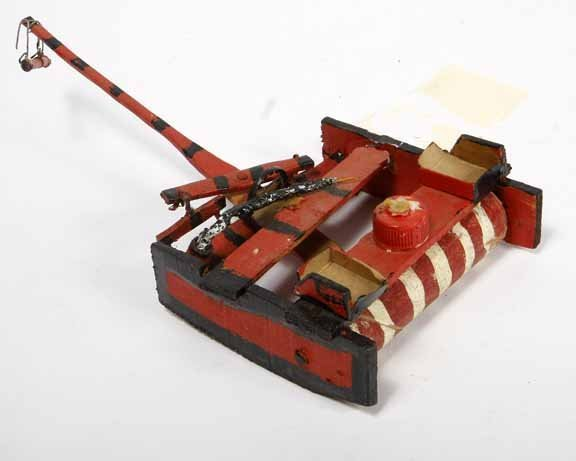 """102: Willie Massey-""""Lawnmower"""". Paint on wood construct"""