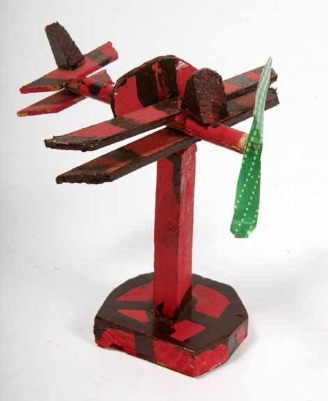 "103: Willie Massey-""Airplane"". Paint on wood constructi"