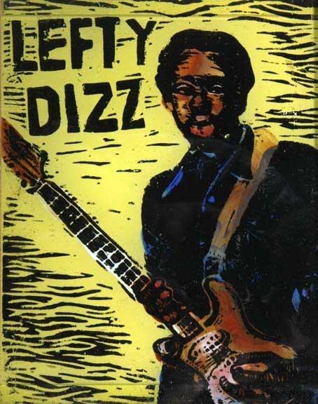 """111: Sue Million-""""Lefty Dizz"""". Painted glass. Piece is"""