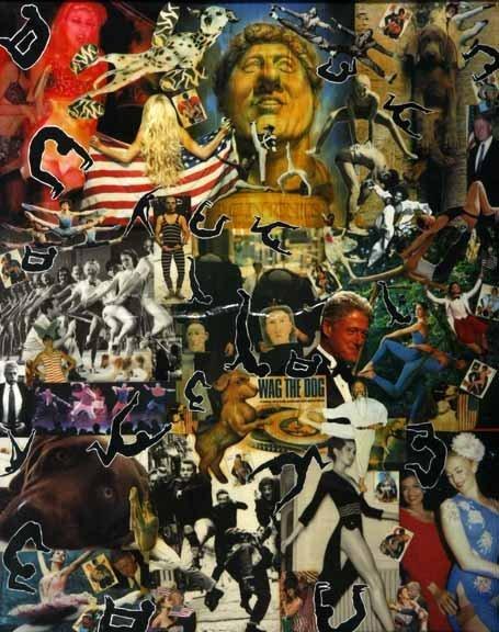 """117: Debbie Brezina-""""Wag The Dog"""". Collage of magazine"""