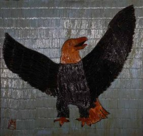 "Wesley Stewart-""Eagle"". Paint On Toothpick Constru"