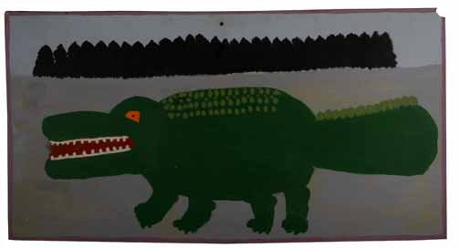 "181: J.T. McCord-""Alligator"". Paint on board, signed an"
