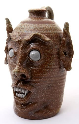 "19: Jeremy Davis, ""Blind Eyed Devil"". Fired and glazed"