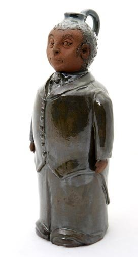 """54: Yvette Lepely, """"Figure"""". Fired and glazed pottery,"""