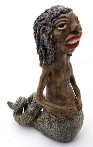 """57: J.G. Dunning, """"Penelope""""   Fired and glazed pottery"""