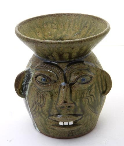 "65: Walter Flemming, ""Spittoon"".  Fired and glazed pott"