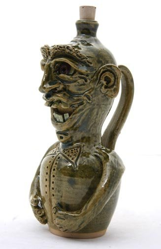 "66: Sandy Cole, ""Jolly Man""  glazed and fired pottery,"