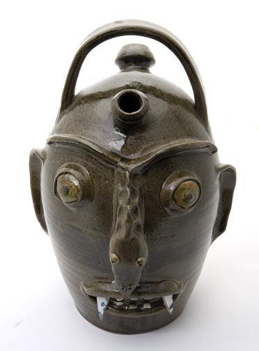 "68: Randy Tobias, ""Snake Man""  Fired and glazed pottery"