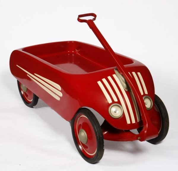 62: Child's Wagon airflow Art Deco