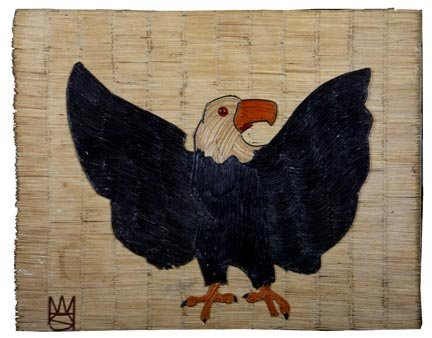"""95: Wesley Stewart, """"Eagle"""".  Paint and glass toothpick"""