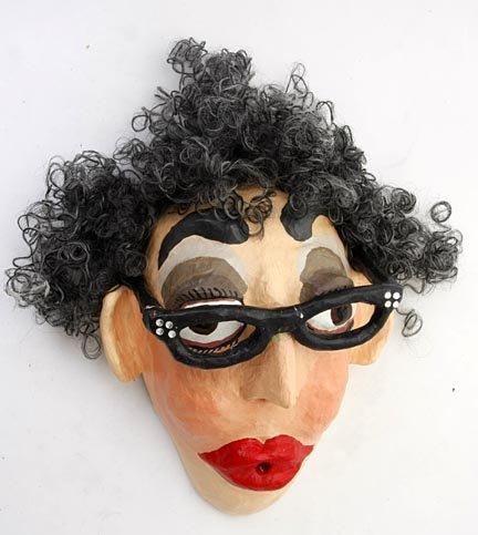 "103: K. Snyder, ""Lady"",  Paper Mache with rhinestone gl"