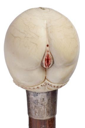13: Erotic Female Ivory Cane- Victorian- This is the be