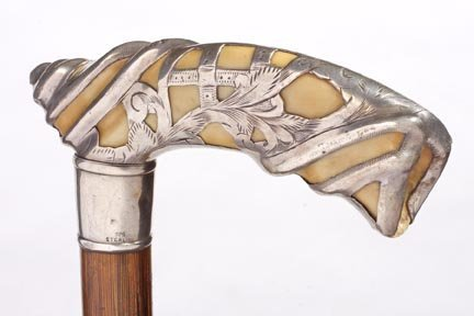 14:Silver and Ivory Cane- Late Victorian-