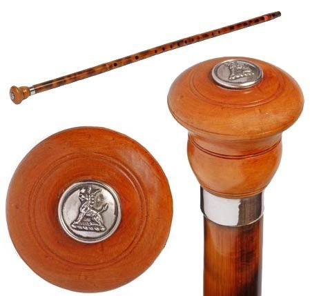 13: Flute Cane-20th Century-A faux bamboo flute cane wi