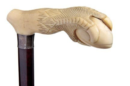5: Ivory Dress Cane-Early 20th Century-A finely carved