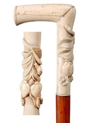 14: Carved Sword Cane-Late 19th Century-A very ornate c
