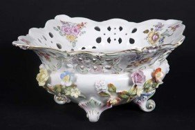 "Porcelain Bowl In Good Condition, 1' 2"" X 1' 5"". The"