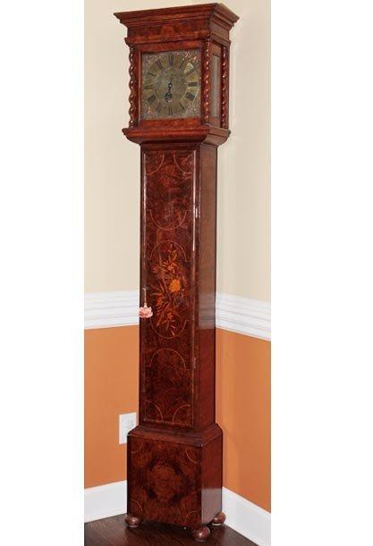 56:Inlaid European Tall Case Clock