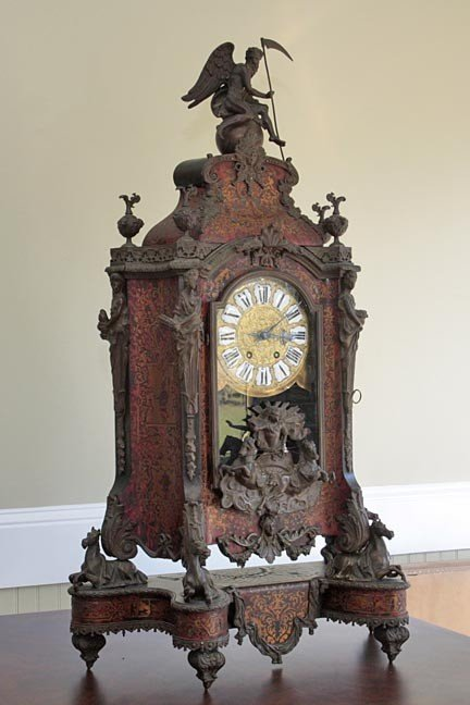 87: Massive Japy Freres Louis XIV clock,
