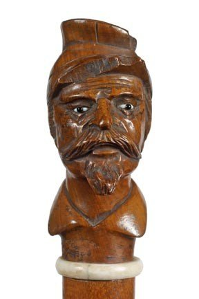 2: Confederate Soldier Folk Cane-Circa 1870-A very nice