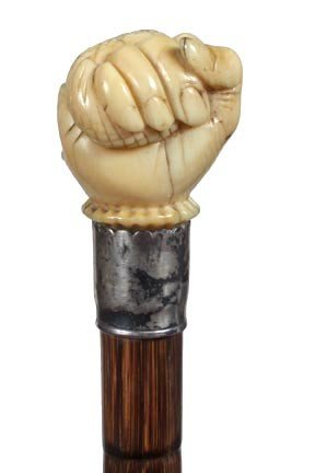 6: Ivory Fist and Snake Sword Cane-Circa 1870-A nicely  - 2