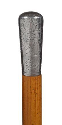 22: Half Sword Cane-Circa 1865-This rare and extremely