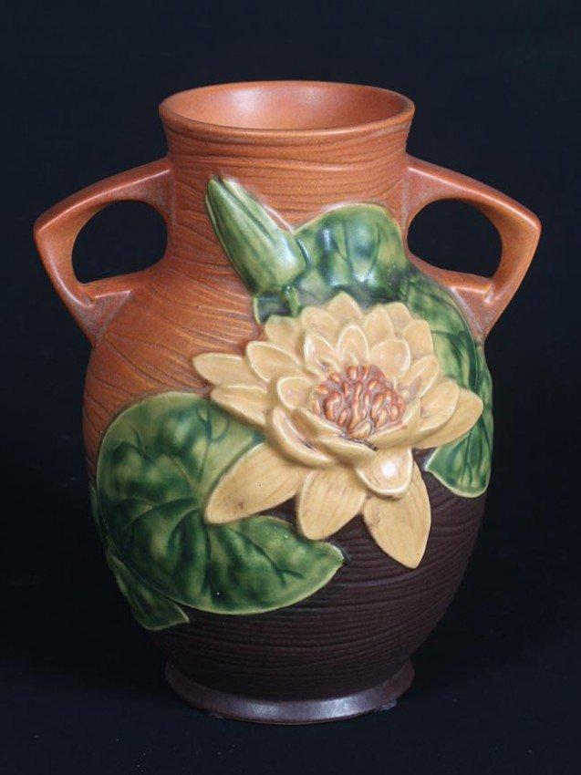 3: Roseville Water Lilly Vase