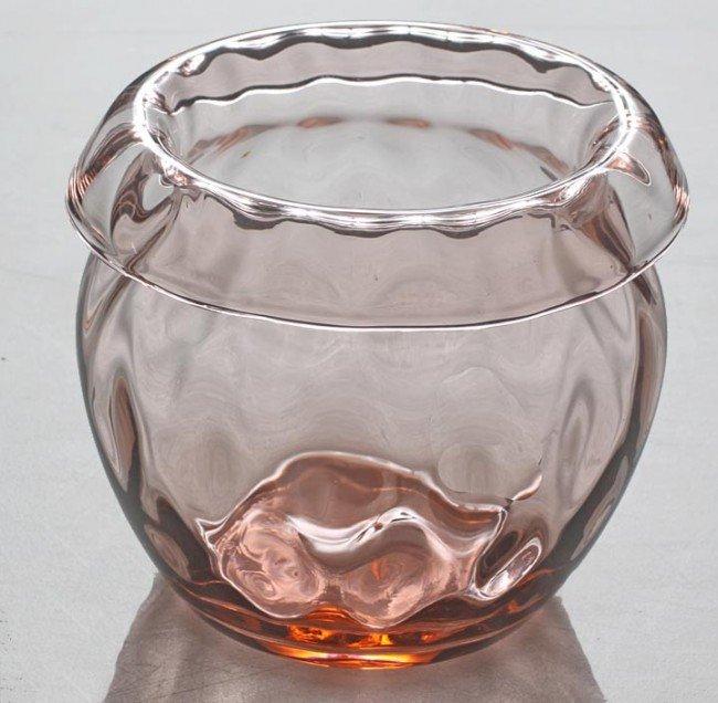 9: Heisey Pink Diamond Optic Vase