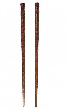 57: Frank Feather Gettysburg Folk-art Cane