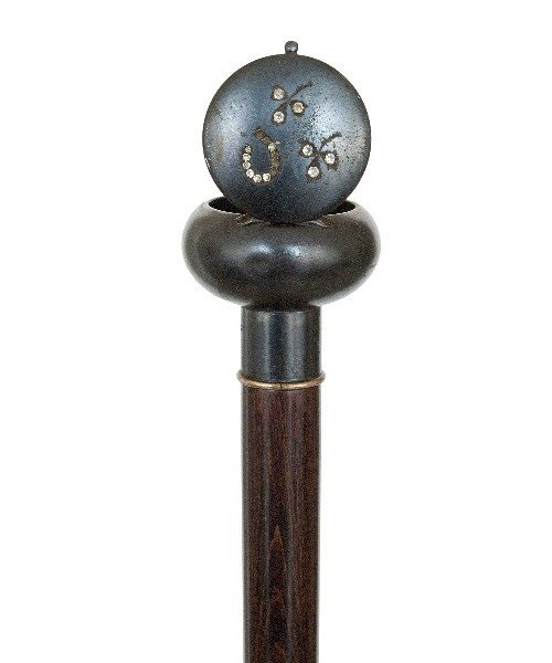 46: English Dual Purpose Compound Cane -Circa 1880-Gun  - 4