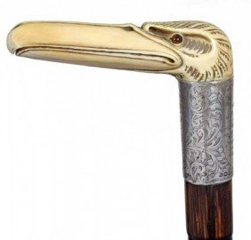 Nautical Ivory Presentation Cane-Dated 1912-A Carve