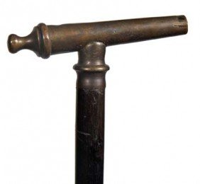 Brass Cheroot System Cane-Circa 1890-A Nice Example