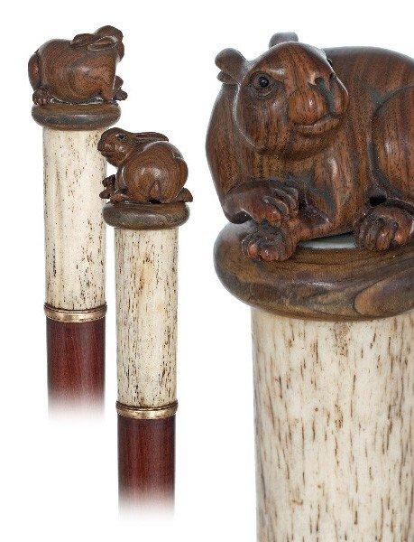 101: Decorative Day Cane-European late 19th Century-Bon