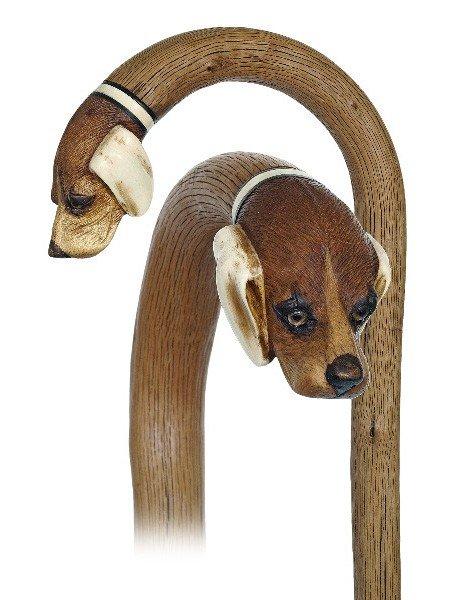 115: Countryside Dog Cane-Late 19th Century-Fashioned o