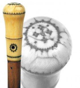 28: Antique cane      Ivory pique
