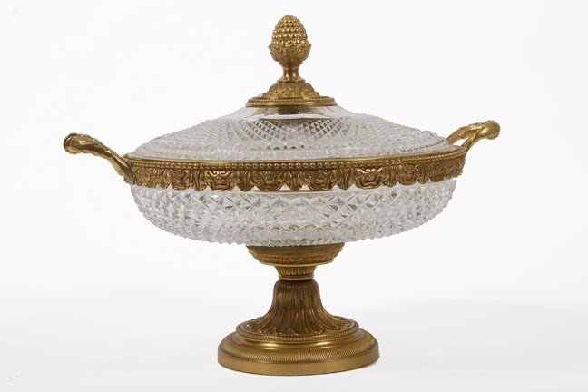 13: 13. Baccarat Center Bowl-Late 19th Century-A covere