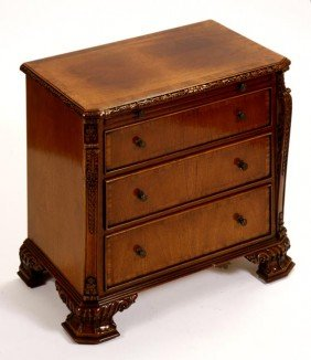 29. Maitland-Smith Miniature Chest-Circa 1970-Nicel