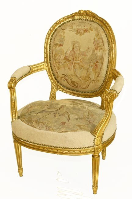 39: 39. French Aubusson chair-1880-A wonderful  chair w