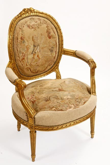 40: 40. French Aubusson Chair-Circa 1880-A wonderful Au