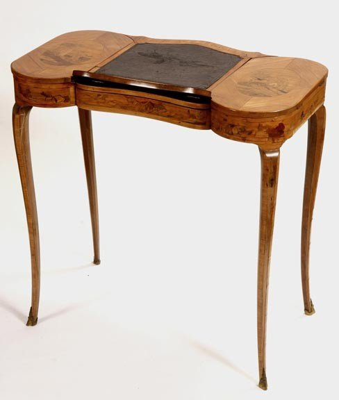 41: 41. Lady's Inlaid English Desk-Early 19th Century-A