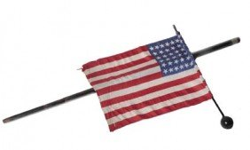 3: 3. American Flag Parade Cane-Early 20th Century-A 48