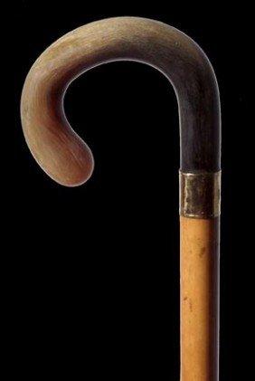 183: 183. Horn Dress Cane-Circa 1900-Possibly Rhino hor