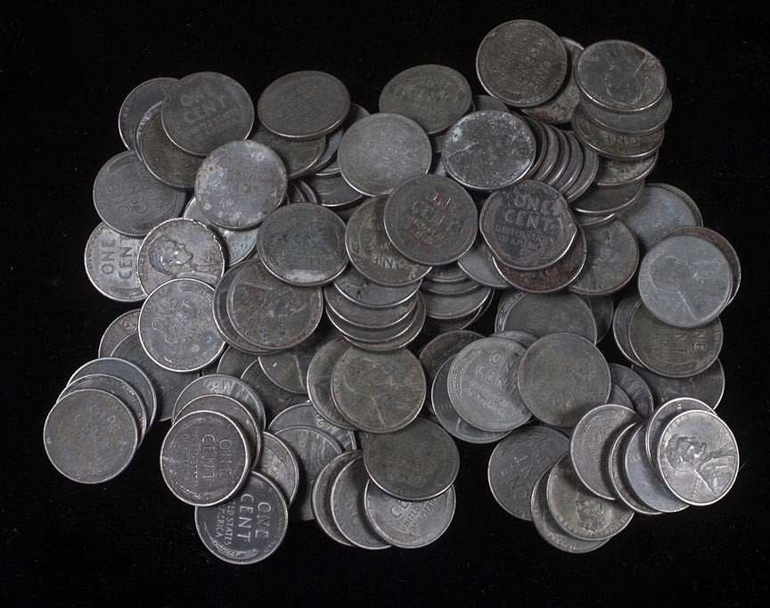 1. Collection of steel pennies