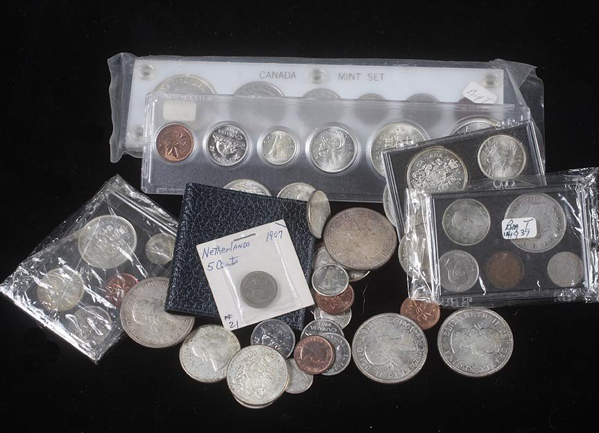 5. Box of mixed Canadian coins