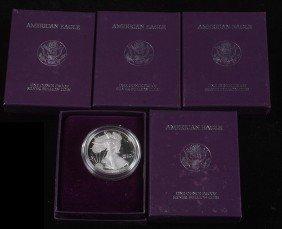 11. 1986-5 Silver Eagles