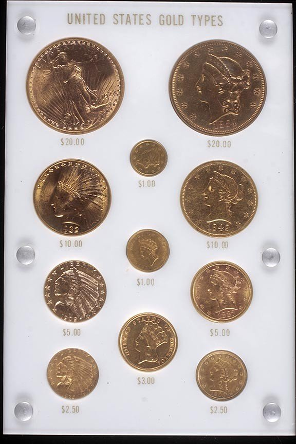 16. Complete set of U.S. gold type coins