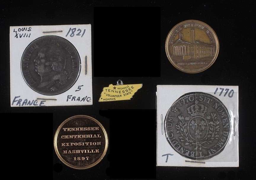 20. Foreign coins and token lot