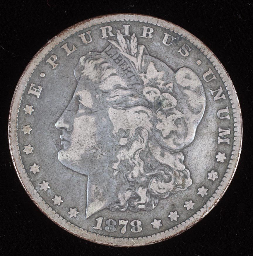 23. 1878 C.C. Morgan silver dollar